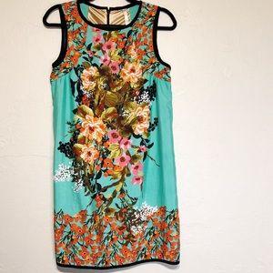 Anthropologie Uncle Frank Shift Floral Lined Dress